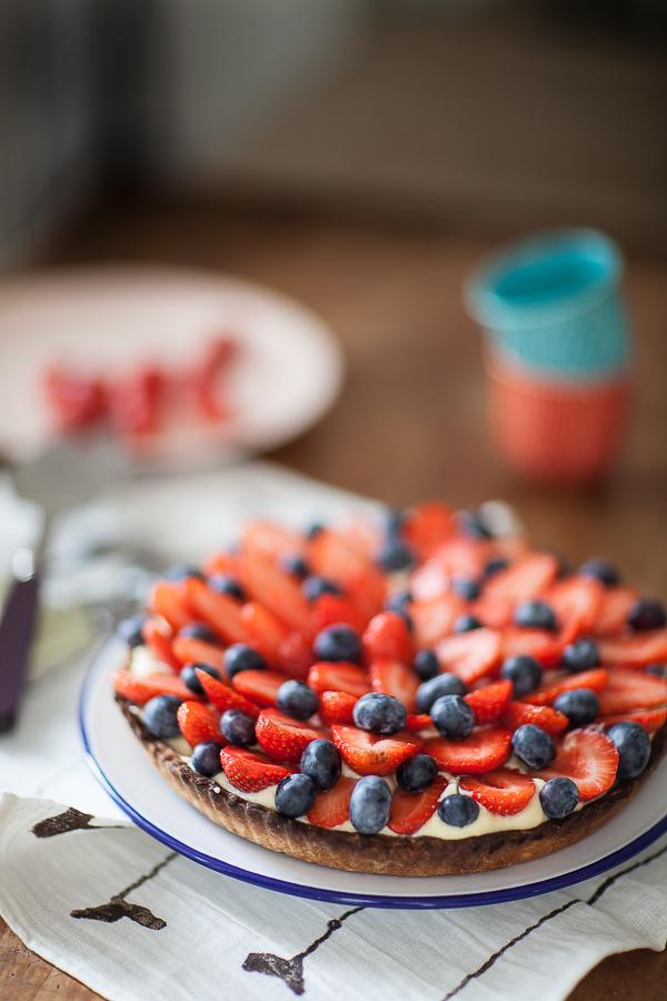 Tarte fraises myrtilles à la crème de mille-feuille02