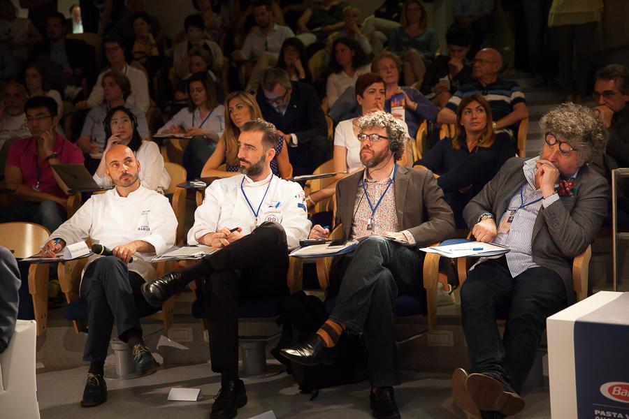 Finale Grands chefs du BPWC0 2016 Marcello Zaccaria, Daniele Caldarulo, Ollie Lloyd et Andrea Grignaffini