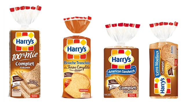 Gamme Pains et brioche Harry's Farine complète