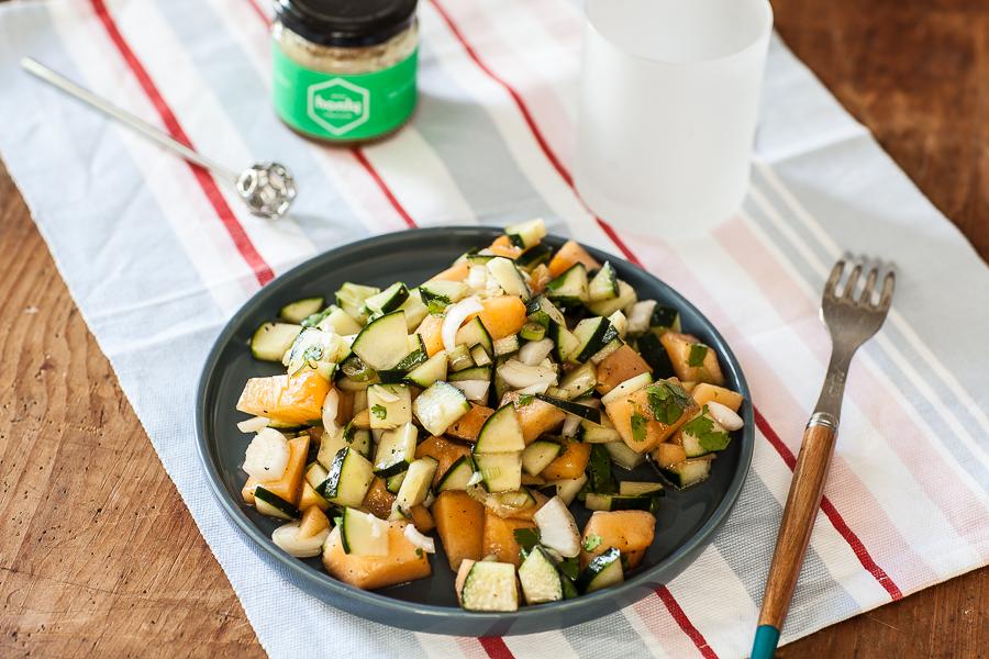 Salade concombre Melon au miel Honly©AnneDemayReverdy02
