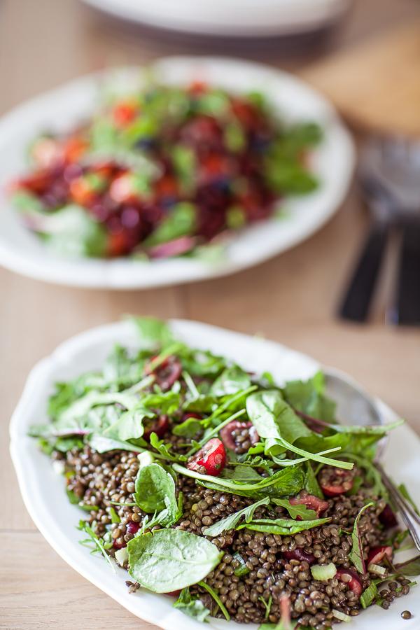 Recette de salade de lentilles cerises