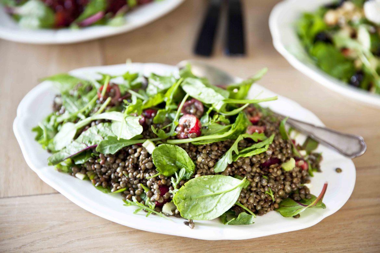 Recette de salade de lentilles aux cerises pour l'été