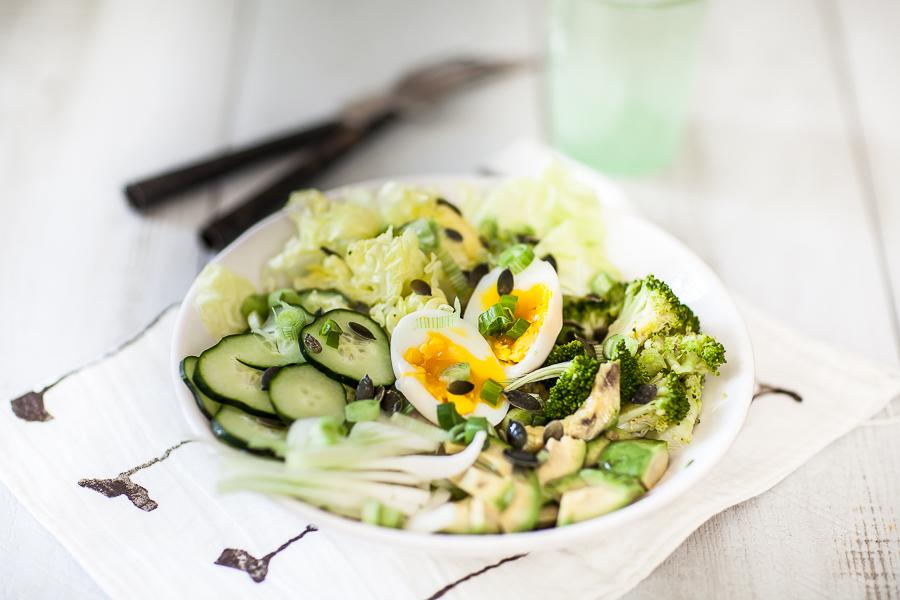Salade toute verte à l'oeuf mollet©AnneDemayReverdy01