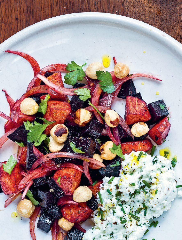 Salade de betteraves et fromage de chèvre frais Crédits photos David Japy