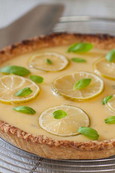 Ma recette de tarte au citron vert et au basilic