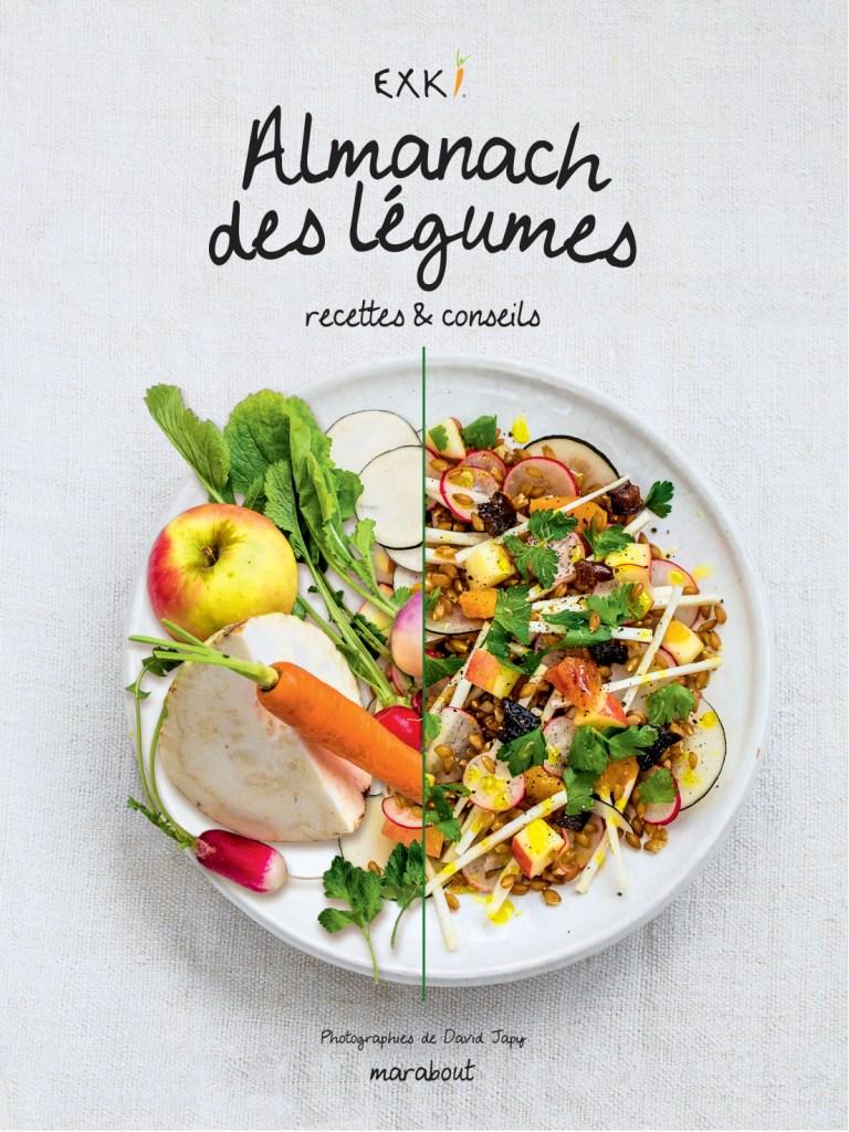 Le nouveau livre de recettes d'Exki l'Almanach des légumes