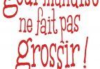 Livre Ariane Grumbach La gourmandise en fait pas grossir!