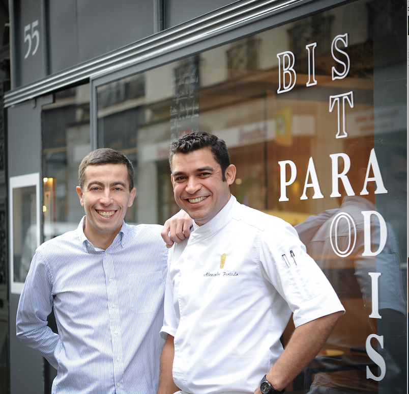 Yoann Dinh et le Chef Alexandre Furtado, ancien second du Pario d'Eduardo Jacinto crédit photo Annabelle Schachmes