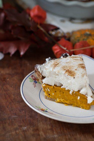 La recette de la tarte au potimarron et à la châtaigne meringué comme une pumpkin pie