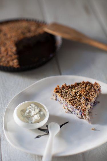 galette de quinoa au chou-fleur violet, la recette végétarienne