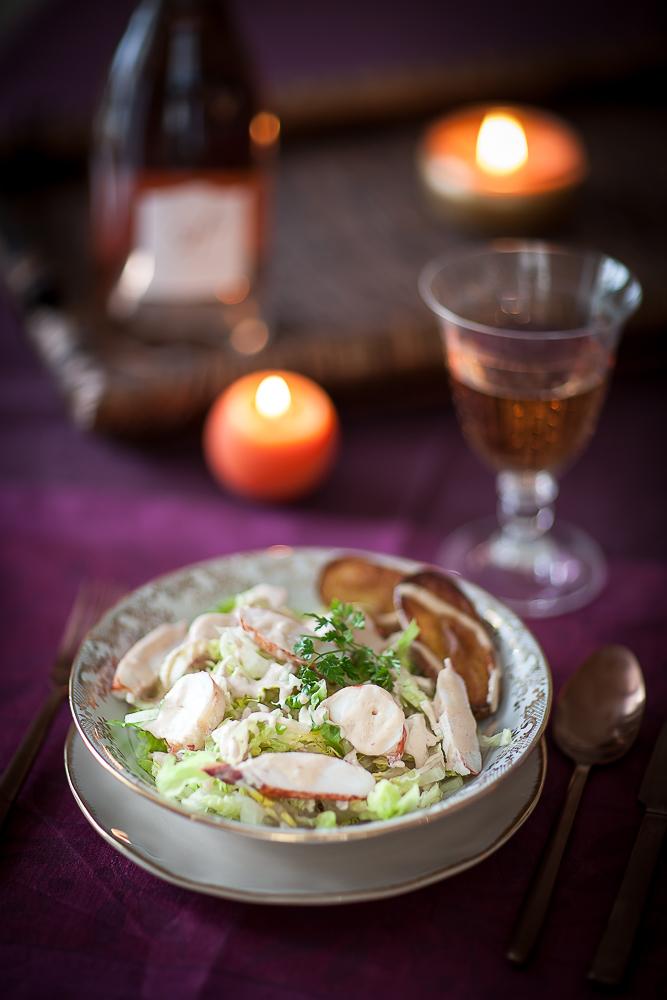 recette simple de salade de homard au jasmin