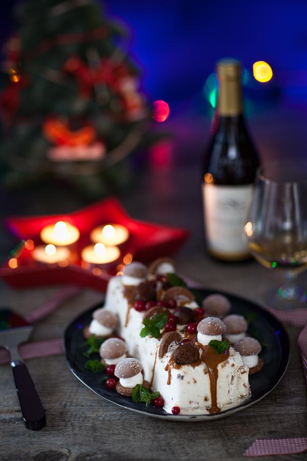 Recette de nougat glacé pour Noël aux marrons glacés