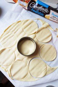Pâte feuilletée pur beurre Croustipâte déocupes d epâte pour croustade de girolles