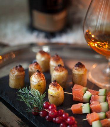 Recette de pommes de terre ratte gratinées à la brandade de morue, en bouchées
