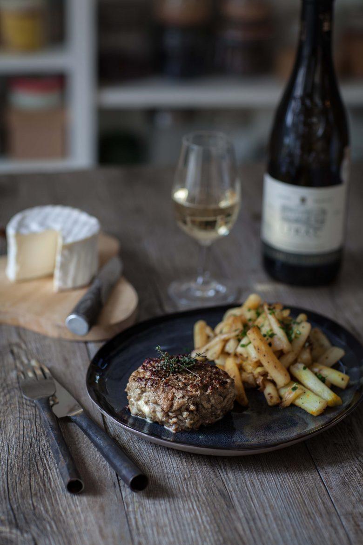 Burger de veau au Brillat-Savarin et salsifis au jus ©panierdesaison