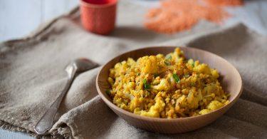 Curry de chou fleur aux lentilles corail