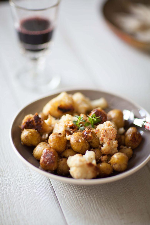 recette de bonnotte de Noirmoutier au chou-fleur et noisettes