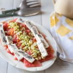 Ma recette de salade de feta, tomates et pastèque