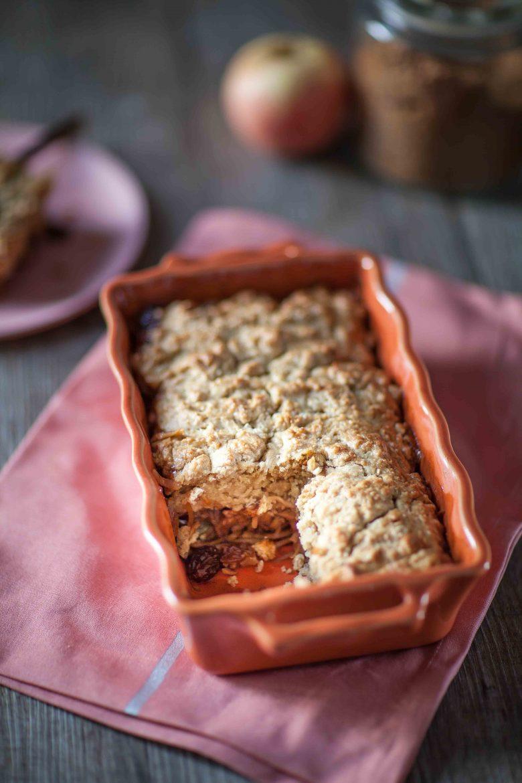 Alternative au crumble : le cobbler aux pommes et à la cannelle.