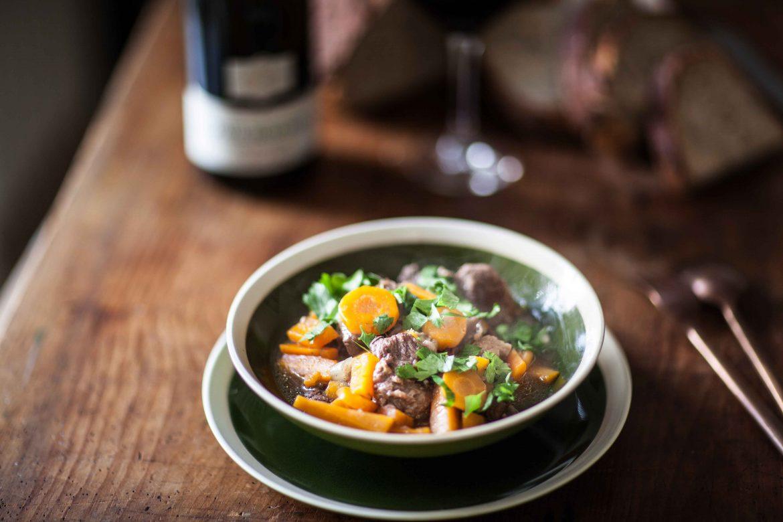 Boeuf carottes aux épices douces et Pinot Noir Paul Buecher Les Terrasses©panierdesaison-11