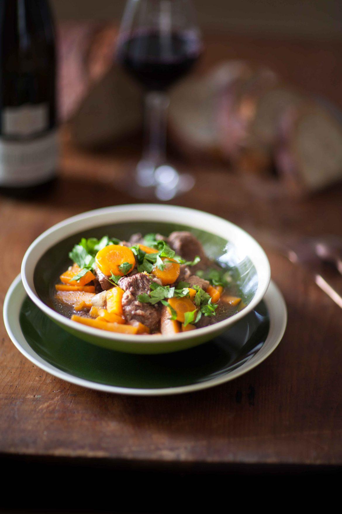 Boeuf carottes aux épices douces et Pinot Noir Paul Buecher Les Terrasses©panierdesaison-21