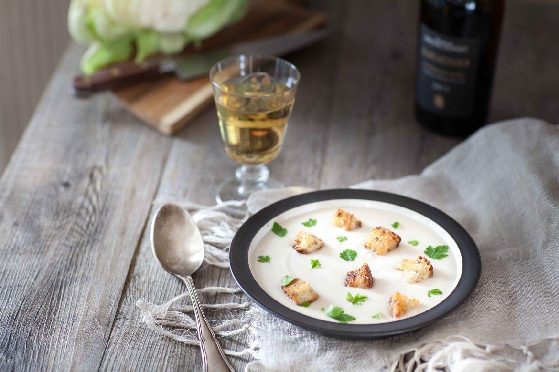 crème de chou-fleur aux noisettes et au Noilly Prat, ma recette