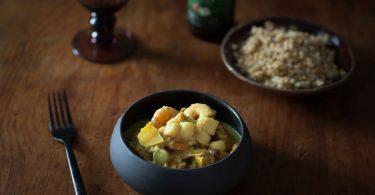 Curry de crevettes, noix de pétoncle et coings©panierdesaison-11