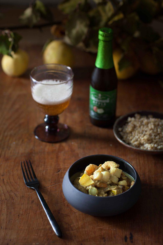 Curry de crevettes, noix de pétoncle et coings©panierdesaison-21