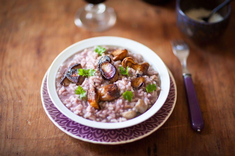 Ma recette de risotto au vin rouge et aux cèpes
