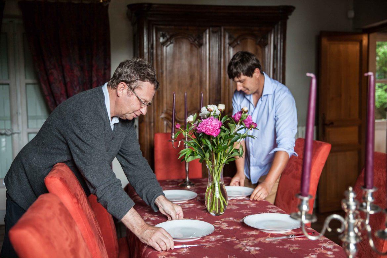 Photo tirée du livre A la Table des Vignerons de Anne Reverdy