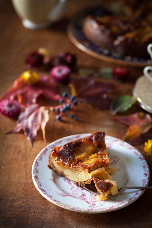 La recette du gâteau renvversé aux pommes et à la vergeoise.