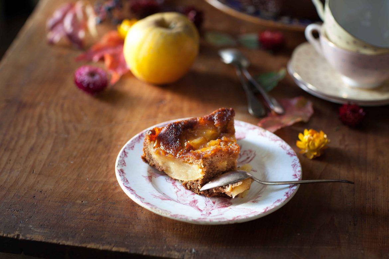 Gâteau renversé aux pommes et à la vergeoise