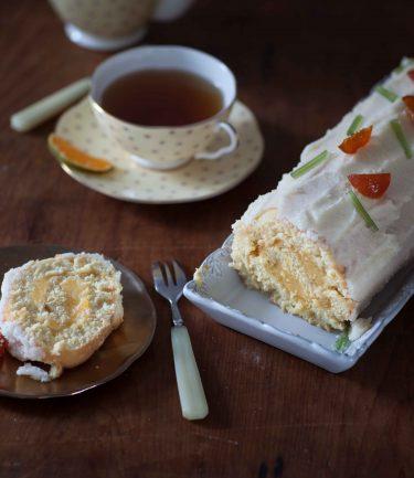 recette de gâteau roulé aux agrumes et astuce pour réaliser facilement une génoise