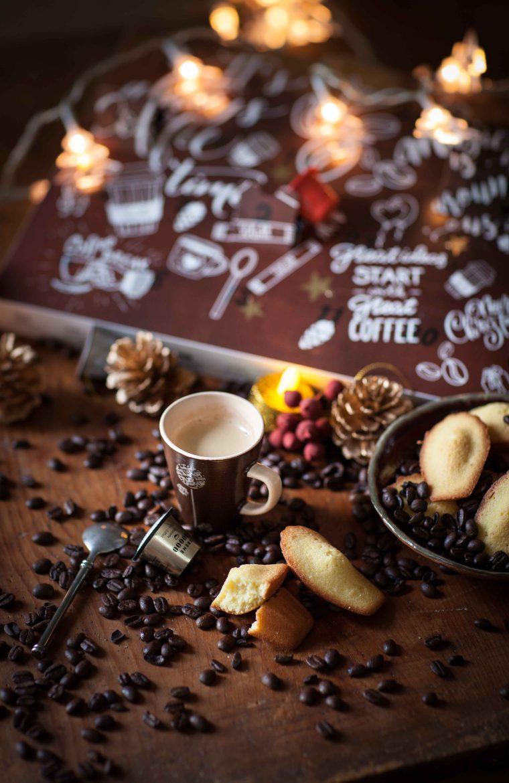 Madeleines vanille zeste de citron et Calendrier de l'avent Maxicoffee©panierdesaison