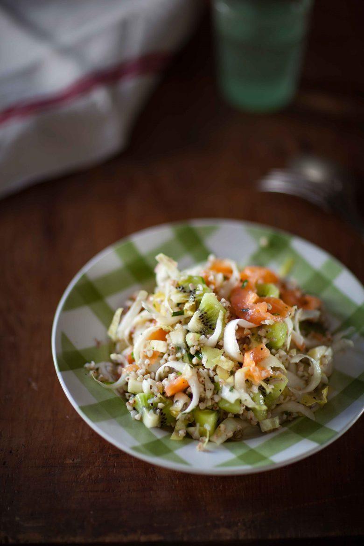 Salade de sarrasin, endives, kiwi et truite fumée©panierdesaison-21