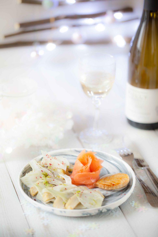 Salade de saumon fumé fenouil artichauts et Puligny Montrachet Chanzy©panierdesaison-