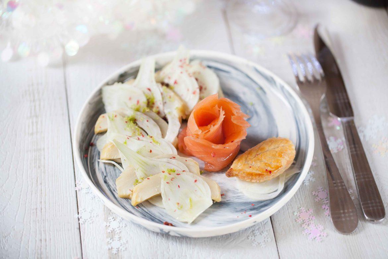 salade de saumon fum au fenouil et l 39 artichaut puligny montrachet chanzy. Black Bedroom Furniture Sets. Home Design Ideas
