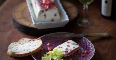 terrine de fromage de chevre frais et grenade