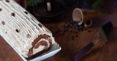 buche roulee cafe praline recette facile et rapide