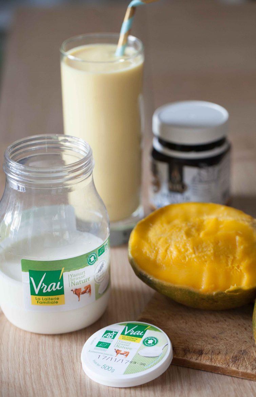 smoothie mangue yaourt vrai