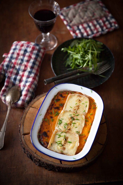 gratin de patates douces à la raclette