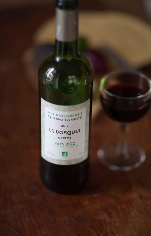 bouteille de vin rouge bio Le Bosquet, le nouveau vin sans sulfite de Système U