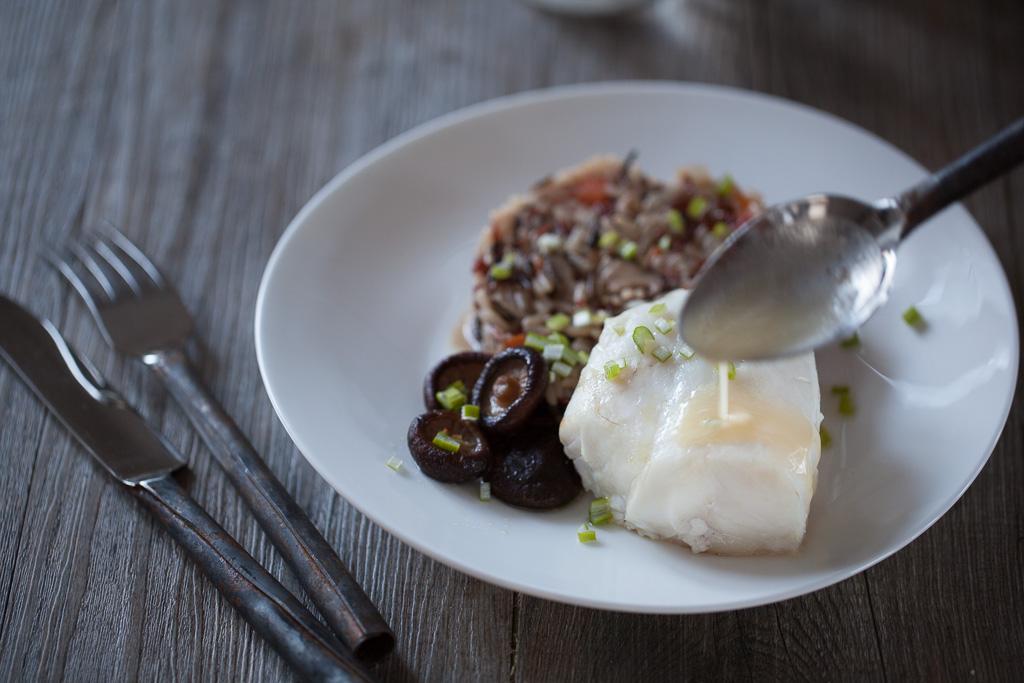 poisson au beurre blanc de marc de Provence