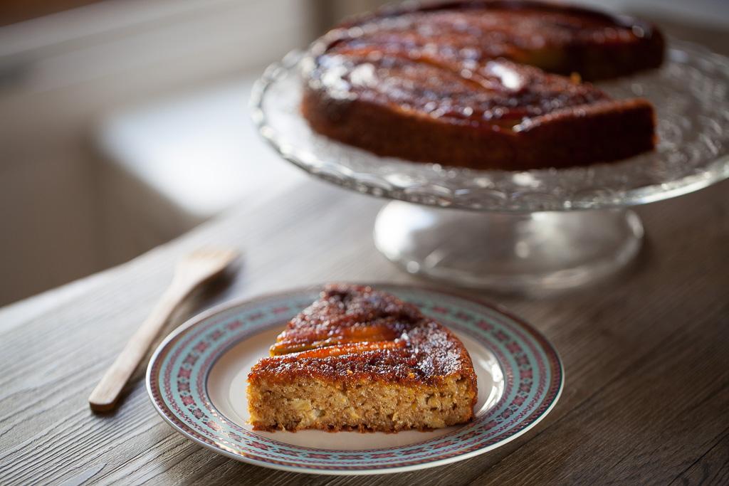 gâteau antillais à la banane renversé et caramélisé