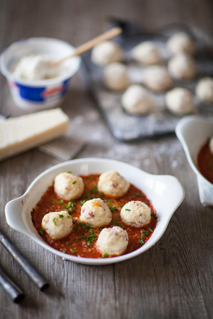 recette de gnudi à a=base de ricotta, de parmesan et d'oeufs