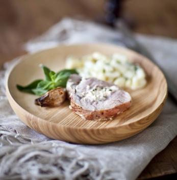 tranche de melon d'agneau farci à la feta et à la menthe recette de Pâques