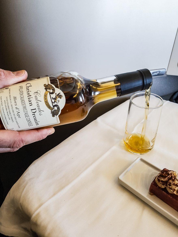 Le calvados Hors d'âge Chrsitian Drouin sélectionné par les sommeliers Air France pour la classe Best Business