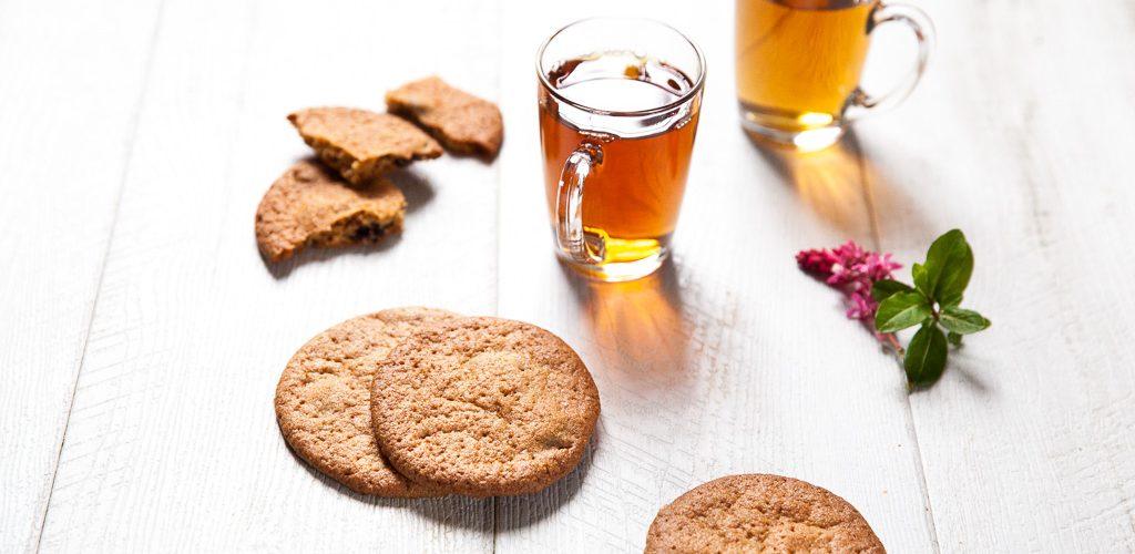 cookies spéculoos à la vergeoise et aux cranberries