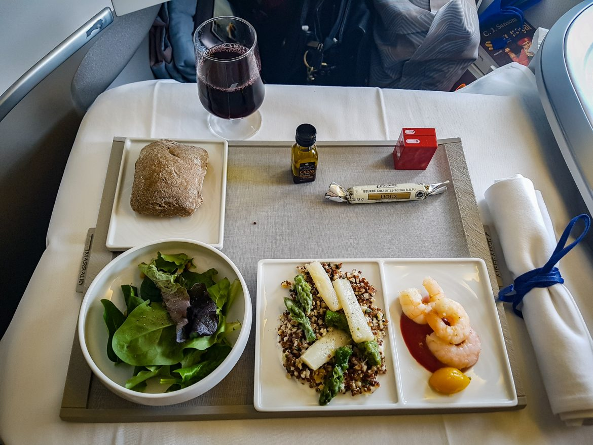 Une des entrées du menu en cabine Best Business Air France