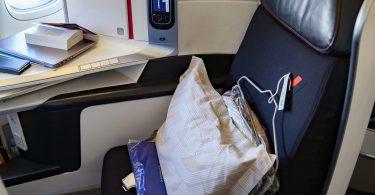 le fauteuil full flat de la cabine Best Business Air France que l'on trouve sur les boeings 777 de la compagnie